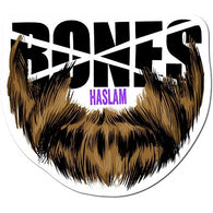 BONES WHEELS Pro Chris Haslam Beard Sticker