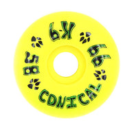 Dogtown K-9 Conical Yellow 58mm 99a Skateboard Wheels