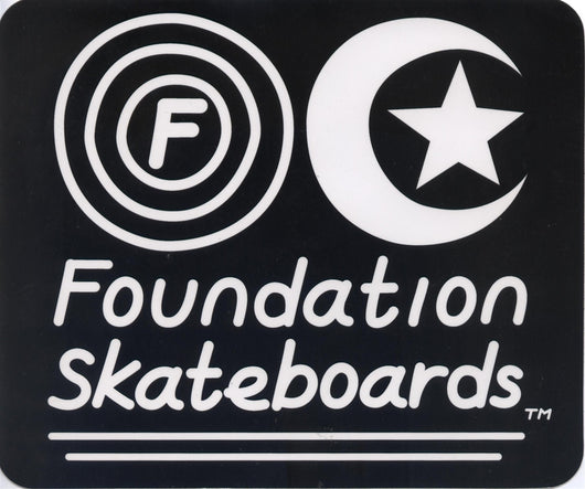 Foundation Skateboards Large Sticker