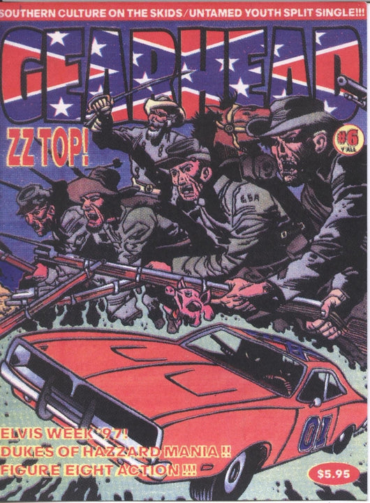 Gear Head Magazine ZZ TOP Postcard Artwork by Frank Kozik