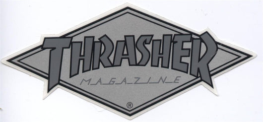 Thrasher Magazine Silver Diamond Logo Skateboard Sticker