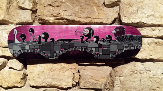 Untitled Original Skateboard Deck Artwork by Andrew Corum