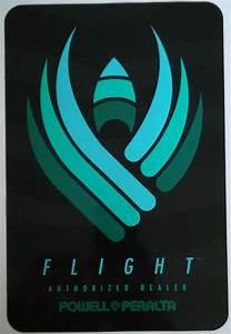 Powell Peralta Flight Deck Authorized Dealer Two-Sided Window Sticker