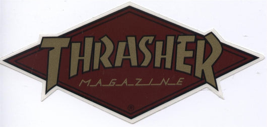 Thrasher Magazine Brown Diamond Logo Skateboard Sticker