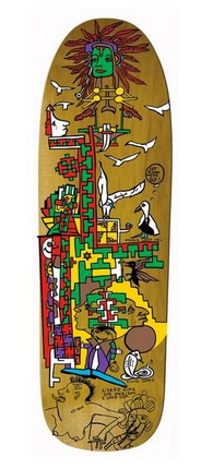 Pocket Pistols Mark Gonzales Henderson Lost Art Skateboard Deck