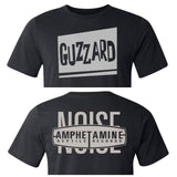 "Band T's Guzzard ""Razor-blade"" T-Shirt with AmRep NOISE back logo - TheDarkSlide"