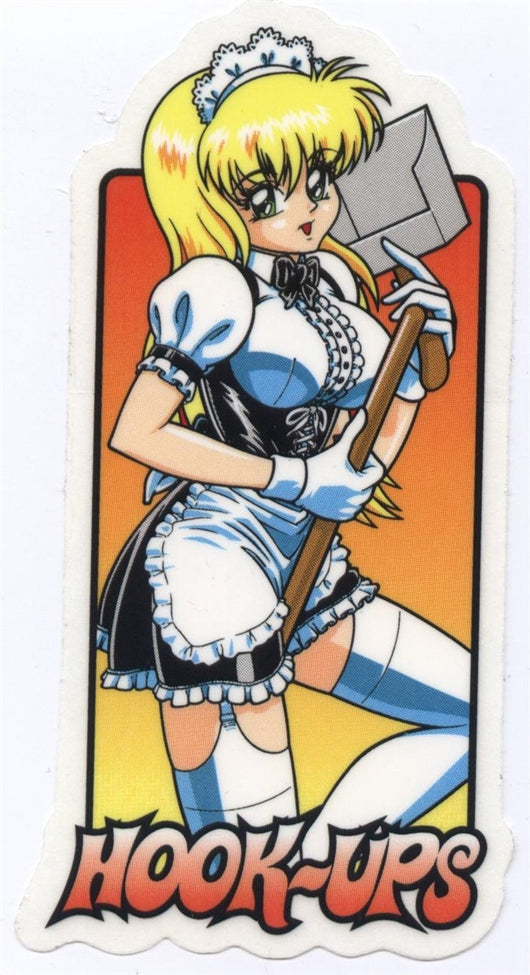 Hook Ups Skateboards Maid Sticker