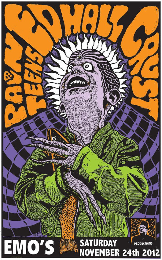 Art,Music Pain Teens, Ed Hall, & Crust LTD Poster by Frank Kozik - TheDarkSlide