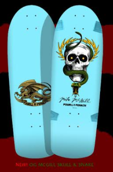 Powell Peralta Mike McGill Skull & Snake Blue Skateboard Deck