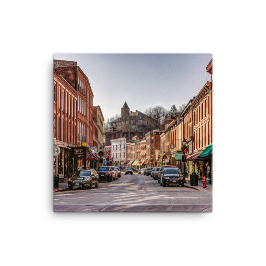 Canvas Print Downtown Galena Canvas Print by Garth Fuerste Photography - TheDarkSlide