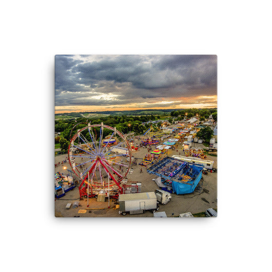 Last Day At The Fair - Canvas Print by Garth Fuerste Photography