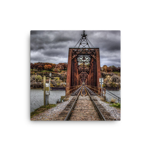 Canvas Print Train Bridge - Canvas Print by Garth Fuerste Photography - TheDarkSlide