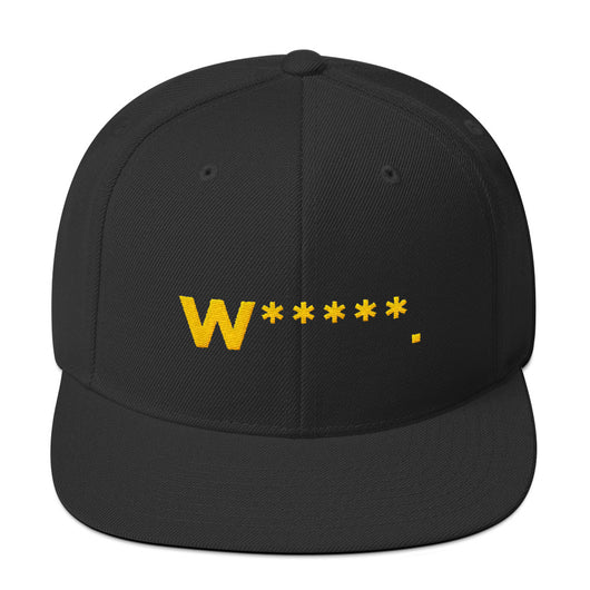 Whores Asterisk Embroidered Snapback Hat
