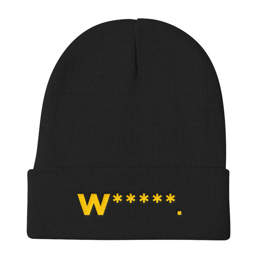 Whores Asterisk Knit Beanie