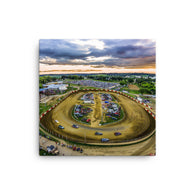 Dubuque County Speedway Canvas Print by Garth Fuerste Photography