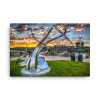 Art on the River ready to hang Canvas Print by Garth Fuerste Photography