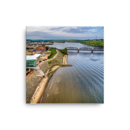 Canvas Print Grand River Aerial - Canvas Print by Garth Fuerste Photography - TheDarkSlide