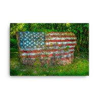 Flag Rock ready to hang Canvas Print by Garth Fuerste Photography