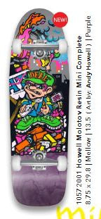 New Deal Andy Howell Molotov Kid Mini Complete Skateboard