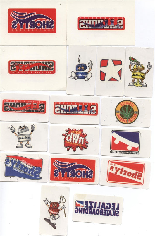 Shory's Skateboards Temporary Tattoos 17 in all