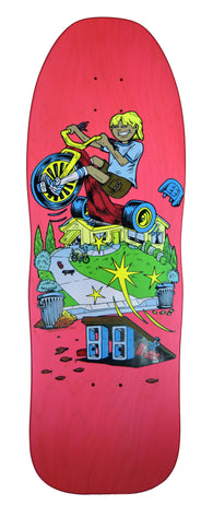 Time Warp Big Wheel Neon Old School Skateboard Deck