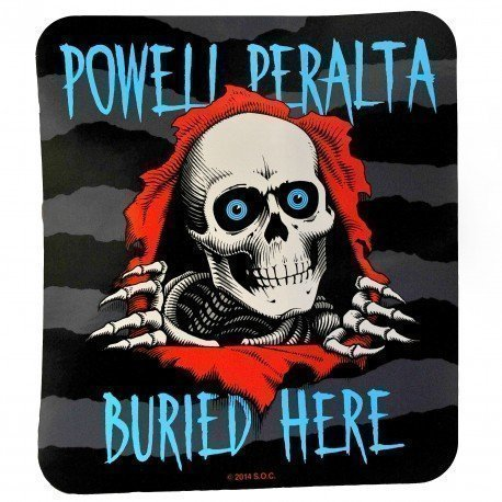 Powell Peralta Ripper Buried Here Two-Sided Window Sticker