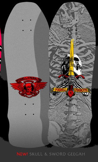 Powell Peralta Ray Rodriguez Skull & Sword Silver Geegah Skateboard Deck *Pre Order*