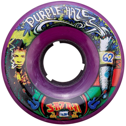 Satori Classic Goo Ball Purple Haze 62mm 78a Skateboard Wheels Jimi Hendrix