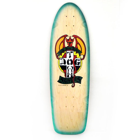Dogtown OG Red Dog Natural / Green Fade Skateboard Deck 9