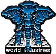 Prime x World Industries Mike Vallely Elephant on the Edge Enamel Lapel Pin
