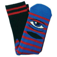Toy Machine Sect Eye Striped Red/Blue Socks