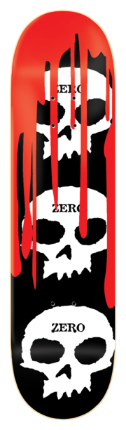 ZERO Team 3 Skull Blood Skateboard Deck