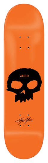 "ZERO Cole Signature Skull Orange 8.5"" Skateboard Deck"