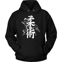Martial Art Hoodie, black, with BJJ design, unisex - hoodie - Art of KIME