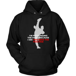 Martial Art Hoodie, black, with fun quote, unisex - hoodie - Art of KIME
