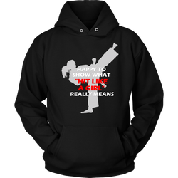 Martial Art Hoodie, black, with fun quote, women - hoodie - Art of KIME