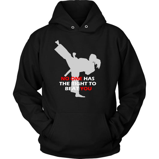 Martial Art Hoodie, black, with inspiring quote, women - hoodie - Art of KIME