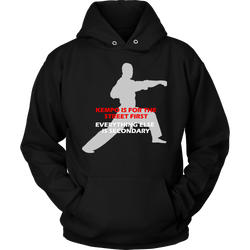 Martial Art Hoodie, black, with Kempo quote, unisex - hoodie - Art of KIME
