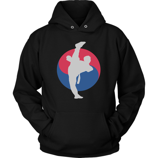 Martial Art Hoodie, black, with Taekwondo design, unisex - hoodie - Art of KIME