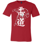 "Martial Art T-Shirt, limited edition ""red"", with Judo design, unisex - T-shirt - Art of KIME"