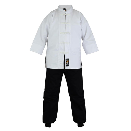 Kung Fu uniform, mixed white jacket/black trousers - clothing - Art of KIME