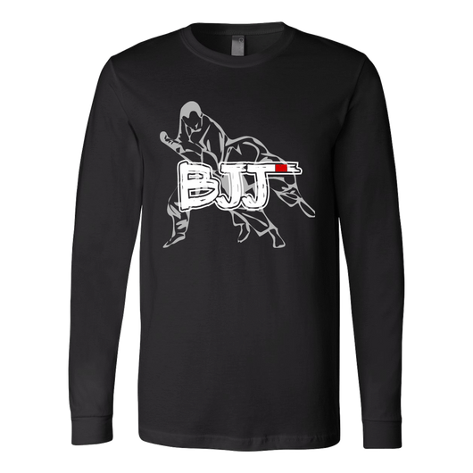 Martial Art T-Shirt, long sleeve, black, with BJJ design, unisex - T-shirt - Art of KIME