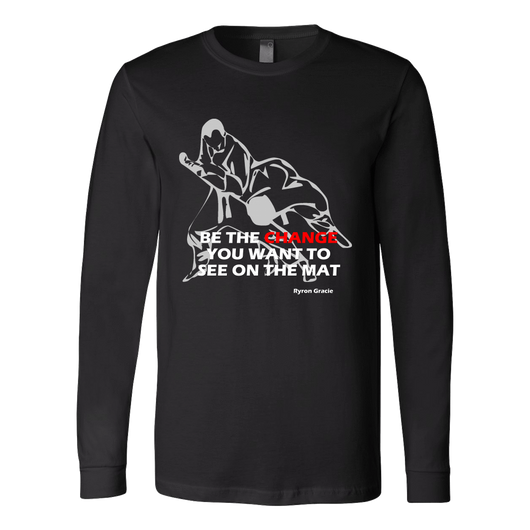 Martial Art T-Shirt, long sleeve, black, with BJJ quote, unisex - T-shirt - Art of KIME
