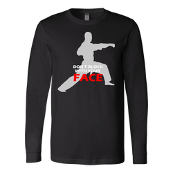 Martial Art T-Shirt, long sleeve, black, with fun quote, unisex - T-shirt - Art of KIME
