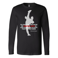 Martial Art T-Shirt, long sleeve, black, with inspiring quote, unisex - T-shirt - Art of KIME