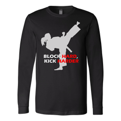 Martial Art T-Shirt, long sleeve, black, with inspiring quote, women - T-shirt - Art of KIME