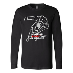 Martial Art T-Shirt, long sleeve, black, with Judo quote, unisex - T-shirt - Art of KIME