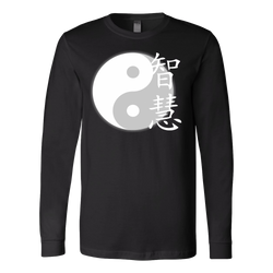 Martial Art T-Shirt, long sleeve, black, with Ying Yang design, unisex - T-shirt - Art of KIME