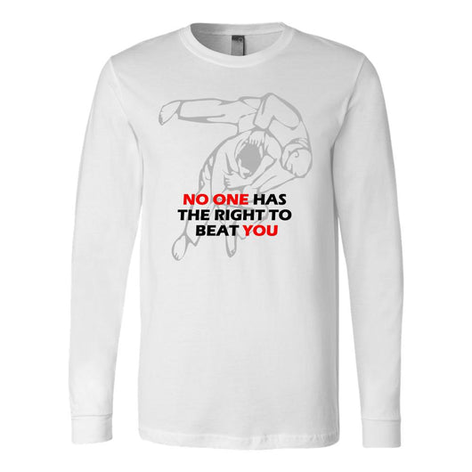 Martial Art T-Shirt, long sleeve, white, with inspiring quote, unisex - T-shirt - Art of KIME