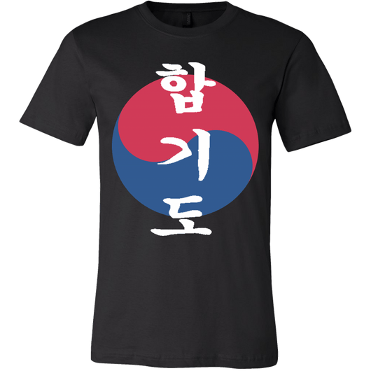 Martial Art T-Shirt, short sleeve, black, with Hapkido design, unisex - T-shirt - Art of KIME